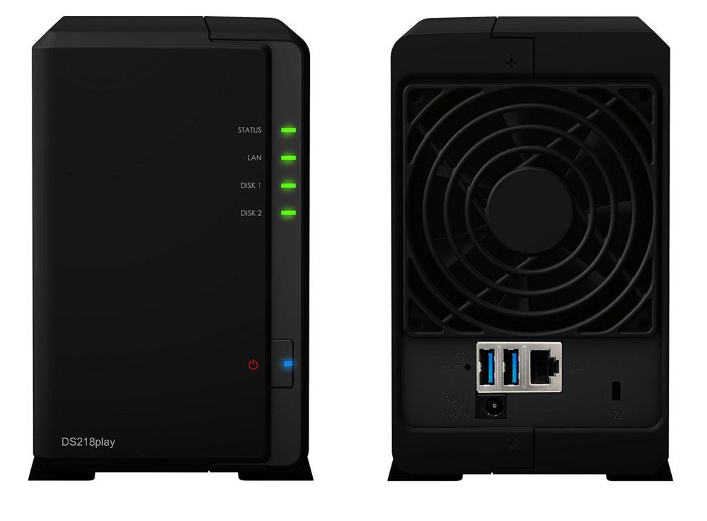 Synology Serveur NAS ds218play - face avant et arrière
